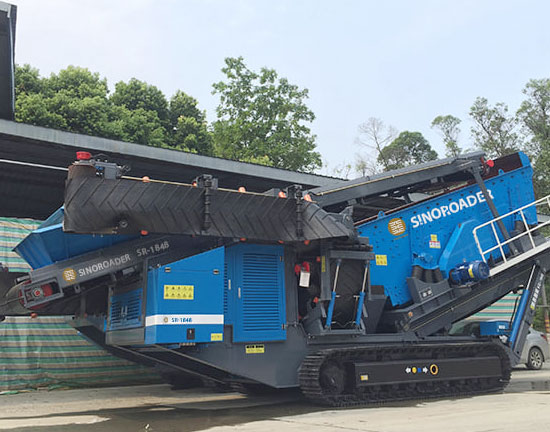 Crawler-Type Mobile Screening System (Full Hydraulic)